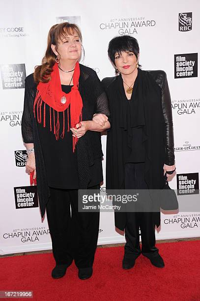 Tina Nina Minnelli and and Liza Minnelli attends the 40th Anniversary Chaplin Award Gala at Avery Fisher Hall at Lincoln Center for the Performing...
