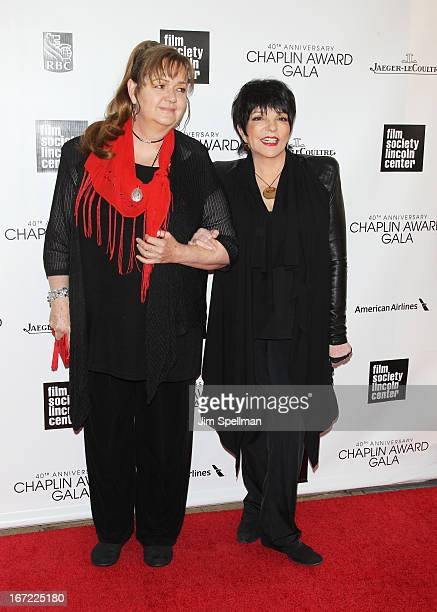 Tina Nina Minnelli and Liza Minnelli attend the 40th Anniversary Chaplin Award Gala at Avery Fisher Hall at Lincoln Center for the Performing Arts on...
