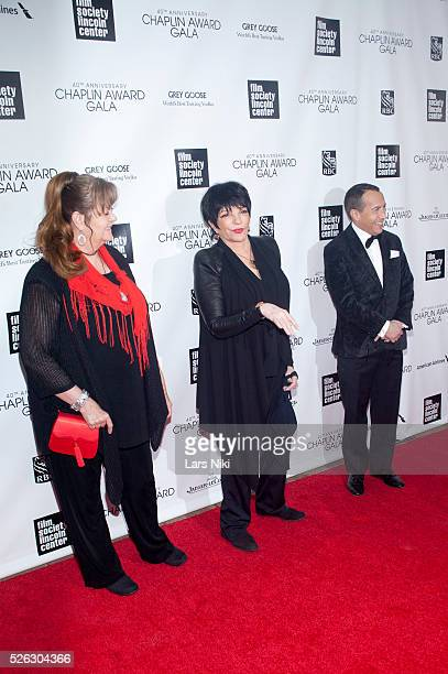 Tina Nina Minnelli and Liza Minnelli attend The 40th Anniversary Chaplin Award Gala at Avery Fisher Hall at Lincoln Center for the Performing Arts in...
