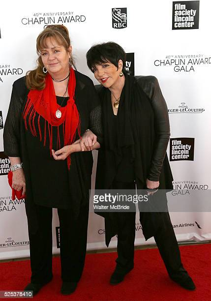 Tina Nina Minnelli Liza Minnelli arriving for the 40th Annual Chaplin Award Gala Honoring Barbra Streisand at Avery Fisher Hall in New York City on...