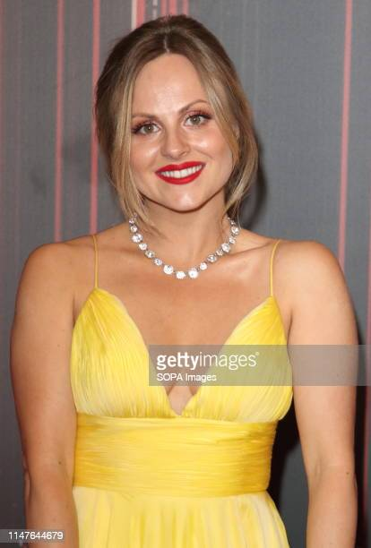 Tina O'Brien arrives on the red carpet during The British Soap Awards 2019 at The Lowry, Media City, Salford in Manchester.