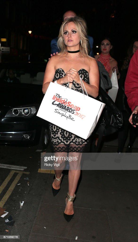 Tina O'Brien attends the Inside Soap Awards held at The Hippodrome on November 6, 2017 in London, England.