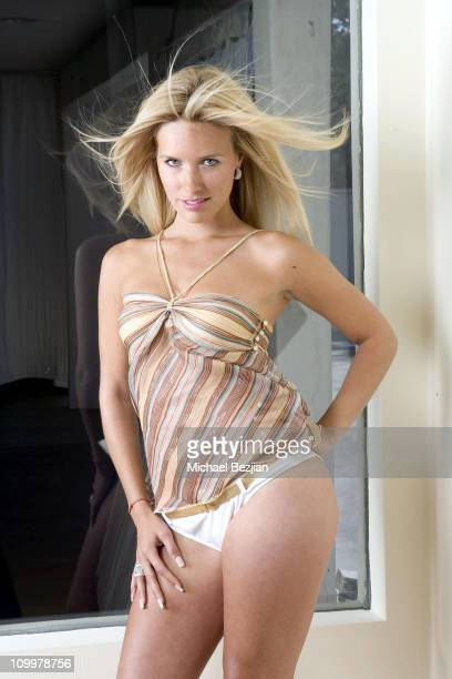 Tina Panan during 2006 Sexiest Men and Women of Reality TV Calendar Shoot Day 3 at Private Residence in Los Angeles California United States
