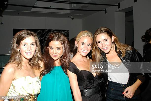 Tina Patient Bridget Helen Caitlin Kelly and Anya Assante attend APRIVATECLUBCOM LAUNCH PARTY at Chelsea Art Museum on October 10 2007 in New York...