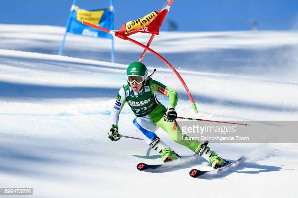 Tina Robnik of Slovenia competes during the Audi FIS Alpine Ski World Cup Women's Giant Slalom on December 29 2017 in Lienz Austria