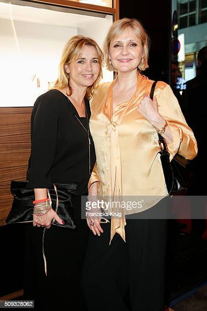 Tina Ruland and Katharina Schubert attend the Montblanc House Opening on February 09 2016 in Hamburg Germany