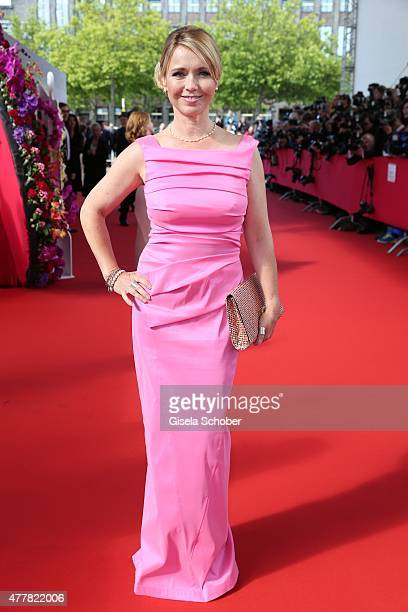 Tina Ruland arrives for the German Film Award 2015 Lola at Messe Berlin on June 19 2015 in Berlin Germany