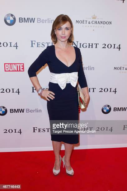 Tina Ruland attends the Bunte BMW Festival Night 2014 at Humboldt Carree on February 7 2014 in Berlin Germany