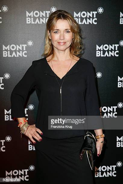 Tina Ruland attends the Montblanc House Opening on February 09 2016 in Hamburg Germany