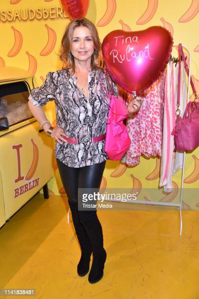 Tina Ruland attends the Natascha Ochsenknecht collection launch Natascha Loves Neon in cooperation with Zwillingsherz at Madame Tussauds on May 6...