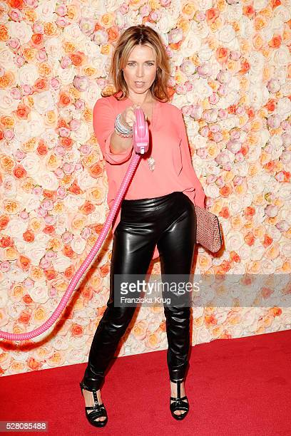 Tina Ruland during 'Sila Sahin Presents New Hairfree Cosmetics Line' at the hairfree headquarter on May 3 2016 in Darmstadt Germany