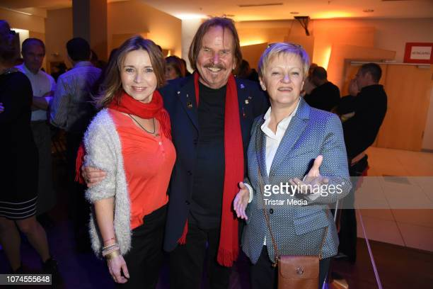 Tina Ruland Frank Zander and Renate Kuenast during the Frank Zander Christmas dinner for the homeless and people in need at Hotel Estrel Convention...