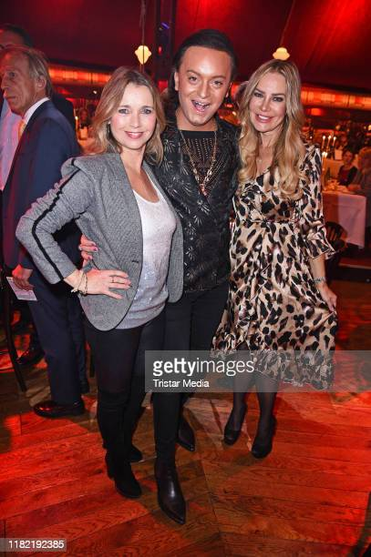 Tina Ruland Julian F M Stoeckel and Xenia Seeberg attend the Palazzo gala premiere at PalazzoSpiegelpalast on November 13 2019 in Berlin Germany