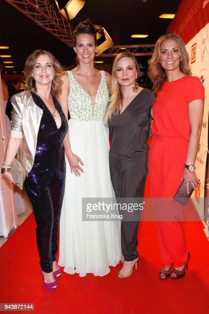 Tina Ruland Katrin Wrobel Regina Halmich and Kerstin Linnartz attend the Victress Awards gala on April 9 2018 in Berlin Germany
