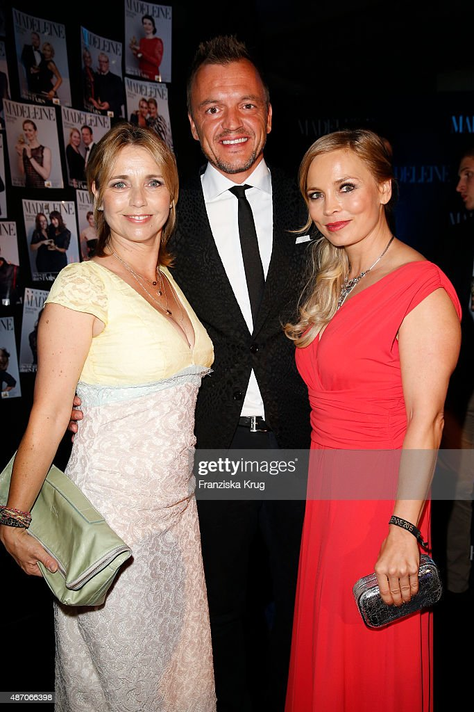Tina Ruland, Volker Valk and Regina Halmich attend Madeleine At Goldene Henne 2015 on September 05, 2015 in Berlin, Germany.