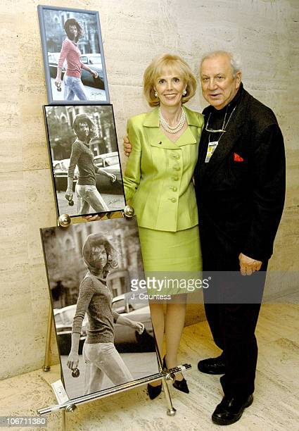 Tina Santi Flaherty and Ron Galella during Launch Party for What Jackie Taught Us Lessons from the Remarkable Life of Jacqueline Kennedy Onassis at...