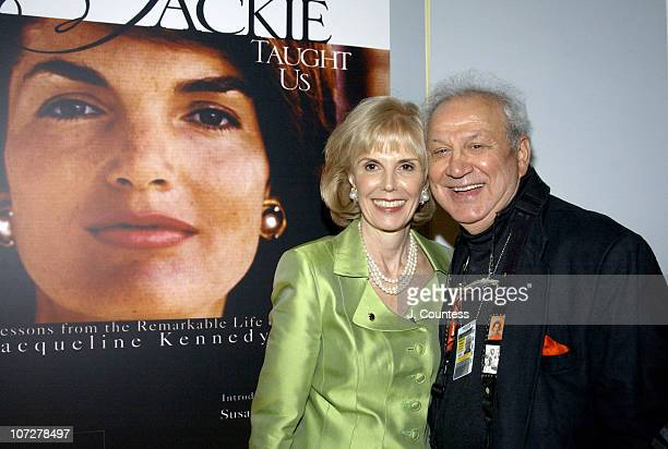 Tina Santi Flaherty author of 'What Jackie Taught Us Lessons from the Remarkable Life of Jackie Kennedy Onassis' and Ron Galella