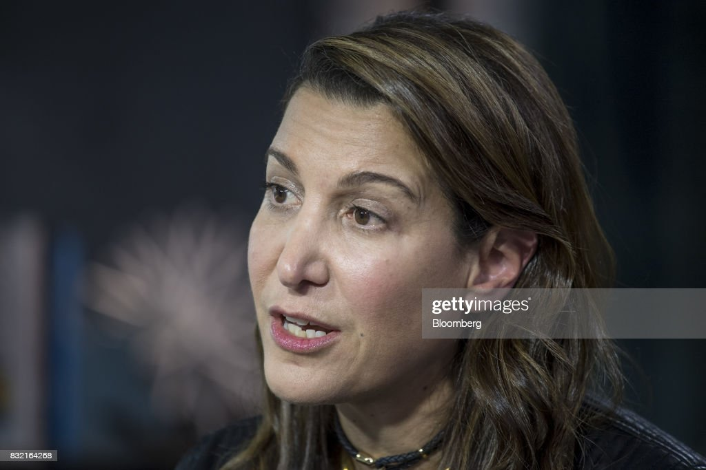Tina Sharkey, co-founder and chief executive officer of Brandless Inc., speaks during a Bloomberg Technology Television interview at The Players Technology Summit in San Francisco, California, U.S., on Tuesday, Aug. 15, 2017. Top leaders in the tech community and venture capital met with professional athletes to exchange ideas and share expertise through panels, discussions and interactive networking to help athletes take control of their careers as business professionals. Photographer: David Paul Morris/Bloomberg via Getty Images