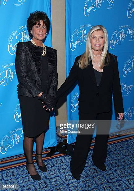 Tina Sinatra and Nancy Sinatra attend the Broadway opening of Come Fly Away at the Marriott Marquis on March 25 2010 in New York City