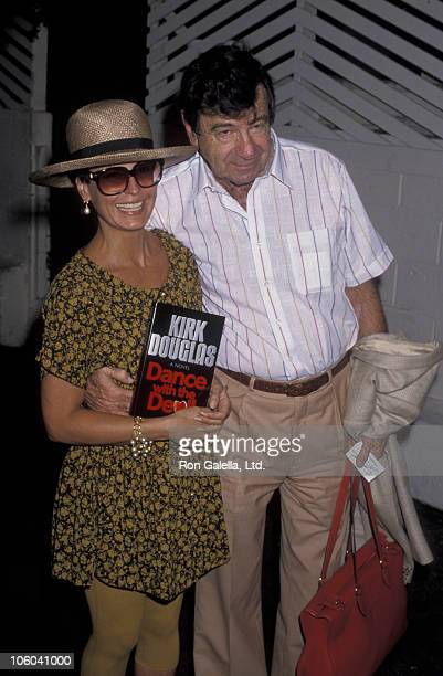 Tina Sinatra and Walter Matthau during Party for Kirk Douglas' Book Dance with the Devil July 10 1990 at Spago's in Los Angeles California United...