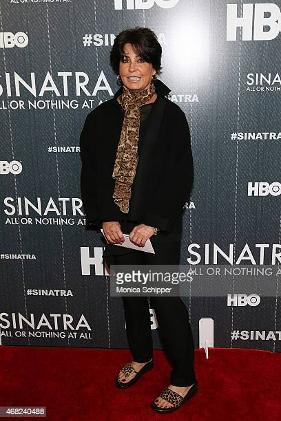 Tina Sinatra attends the Sinatra All Or Nothing At All New York Screening at Time Warner Center on March 31 2015 in New York City