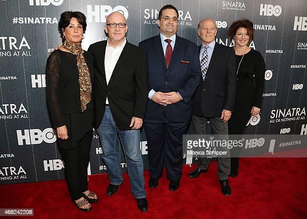 Tina Sinatra Director and Executive Producer Alex Gibney Kary Antholis Executive Producer Frank Marshall and and Sharon Hall attend the Sinatra All...