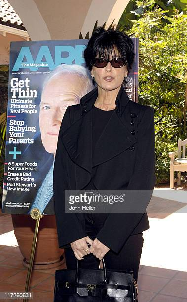 Tina Sinatra during Liz Smith Dishes with AARP The Magazine and Hollywood's Hottest Bold Faced Names at Hotel BelAir in Bel Air California United...