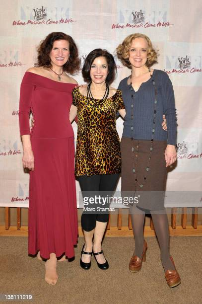 Tina Stafford Susan J Jacks and Nancy Anderson attend the offbroadway opening night of Ionescopade at The York Theatre on February 2 2012 in New York...
