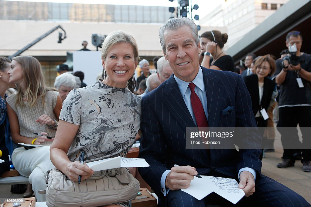 Tina Stephan and CEO at Macy's, Inc. Terry Lundgren attend Shinnyo Lantern Floating for Peace Ceremony at Lincoln Center for the Performing Arts on September 20, 2015 in New York City.