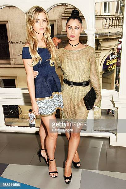 """Tina Stinnes and Cally Jane Beech attend a special screening of """"War Dogs"""" at Picturehouse Central on August 11, 2016 in London, England."""