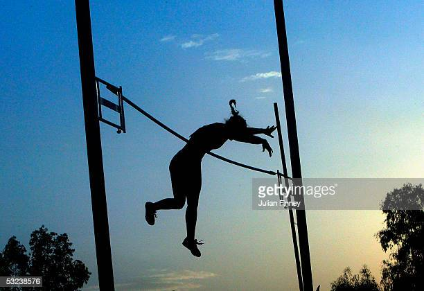 Tina Sutej of Slovenia goes clear in the girls Pole Vault Qualification during the IAAF World Youth Championships Day Two at the Sidi Youssef Ben Ali...