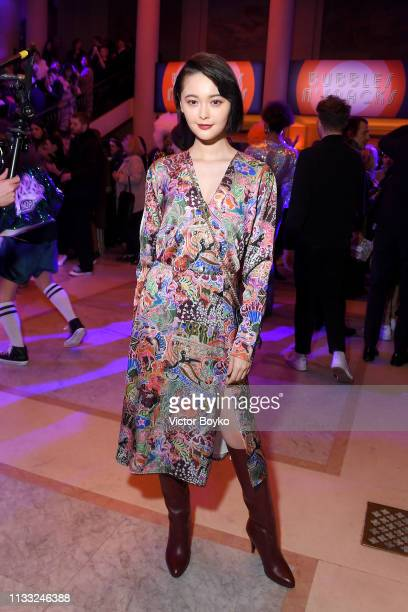 Tina Tamashiro attends the Tommy Hilfiger TOMMYNOW Spring 2019 TommyXZendaya Premieres at Theatre des ChampsElysees on March 02 2019 in Paris France