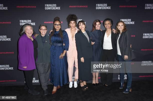 Tina Tchen Jill Soloway Ava DuVernay Melina Matsoukas Rashida Jones Maha Dakhil Nina Shaw and Natalie Portman attend The 2018 MAKERS Conference at...