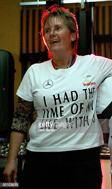 Tina Theune Meyer attends the champions party of the German National Team at the UEFA Women's Euro 2005 on June 19 2005 at the Marriott Hotel in...