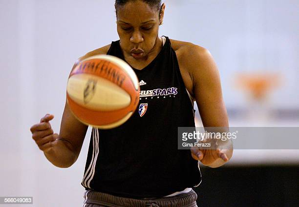 Tina Thompson lets out a deep breath before shooting a free throw during a recent scrimmage at Southwest College The former Houston Comet and USC...