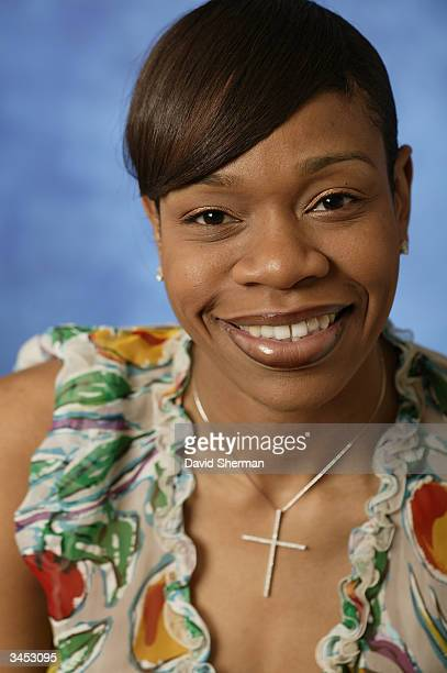 Tina Thompson of the Houston Comets poses for a portrait during the 2004 NBA All Star Media Availability on February 13 2004 in Los Angeles...