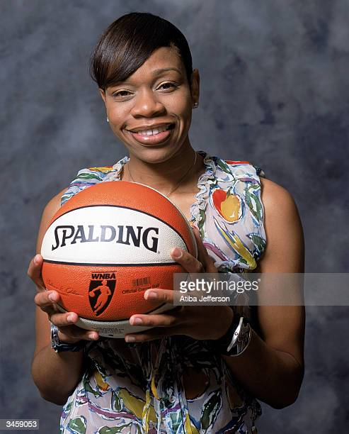 Tina Thompson of the Houston Comets poses for a portrait during the 2004 NBA AllStar Weekend on February 13 2004 in Los Angeles California NOTE TO...