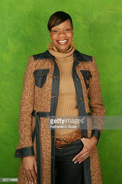 Tina Thompson of the Houston Comets poses for a portrait during the 2005 NBA AllStar Media Availability on February 18 2005 at The Westin Hotel in...