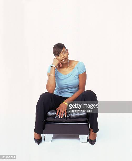 Tina Thompson of the Houston Comets poses for a WNBA Portrait at Westin Hotel on August 4 2004 in New York New York NOTE TO USER User expressly...