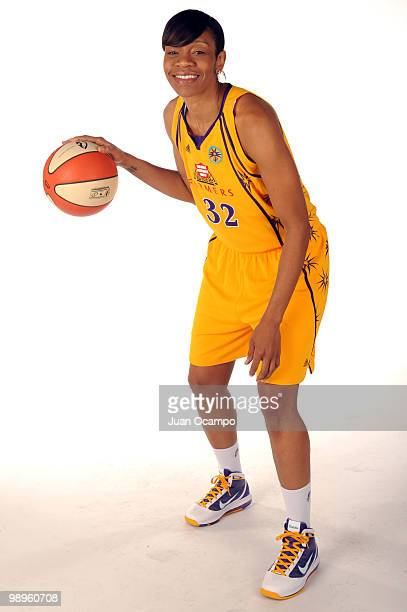Tina Thompson of the Los Angeles Sparks poses for a photo during WNBA Media Day at St Mary's Academy on May 10 2010 in Inglewood California NOTE TO...