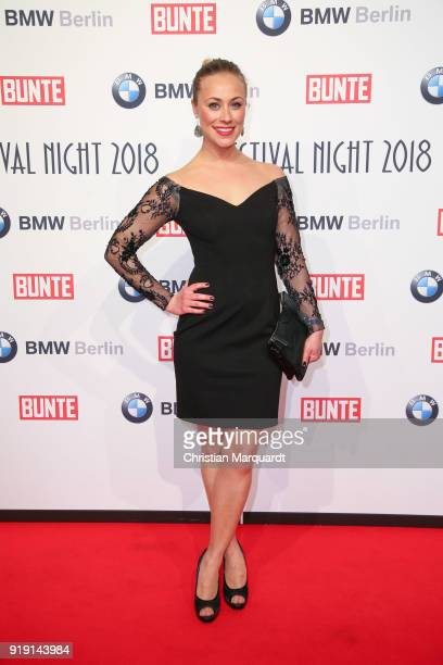Tina Tkotsch attends the BUNTE BMW Festival Night on the occasion of the 68th Berlinale International Film Festival Berlin at Restaurant Gendarmerie...
