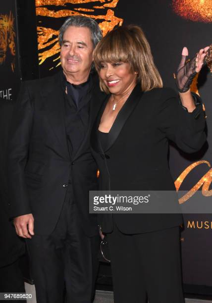 Tina Turner and Erwin Bach attend the opening night of 'Tina' the Tina Turner musical at Aldwych Theatre on April 17, 2018 in London, England.