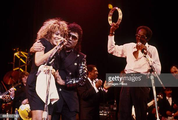 Tina Turner and Little Richard at the 1989 Rock N Roll Hall of Fame Induction Ceremony circa 1989 in New York City.