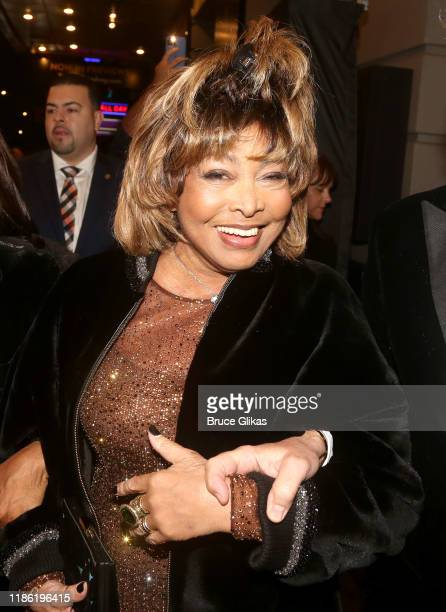 Tina Turner arrives at the opening night of Tina The Tina Turner Musical at LuntFontanne Theatre on November 07 2019 in New York City