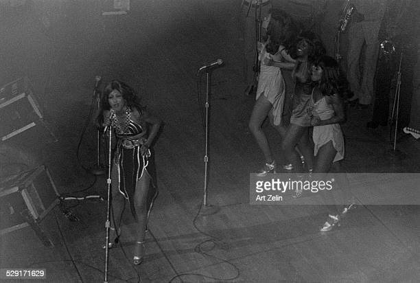 Tina Turner at the Apollo Theater in performance circa 1970 New York