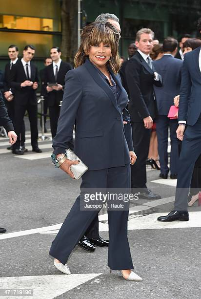 Tina Turner attends the Giorgio Armani 40th Anniversary Silos Opening And Cocktail Reception on April 30 2015 in Milan Italy