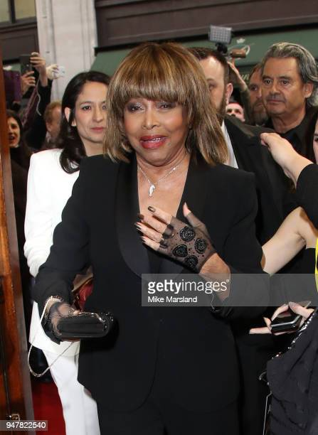 Tina Turner attends the opening night of 'Tina' the Tina Turner musical at Aldwych Theatre on April 17 2018 in London England