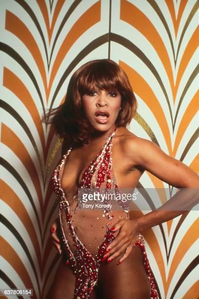 Tina Turner Backstage During a Concert