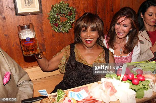 Tina Turner during Oktoberfest at Schuetzenzelt/Theresienwiese on October 3 2014 in Munich Germany