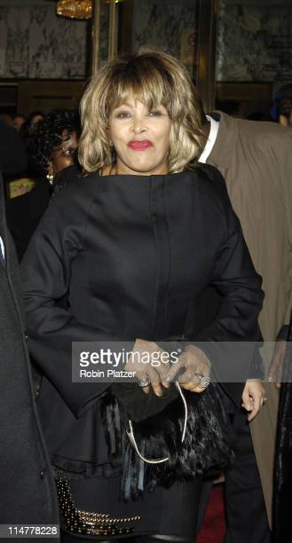 Tina Turner during The Color Purple Broadway Opening Night Arrivals at The Broadway Theatre in New York City New York United States